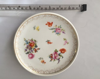 1920s Rosenthal porcelain plate w/ hand painted flowers