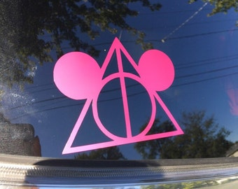 Deathly Hallows| Mickey Mouse| Disney Decal
