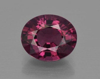 AAA Oval Shape Genuine Faceted Rhodolite Garnet (5X3mm-10X8mm) . 810-751