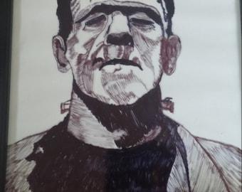 Frankenstein Pen and Ink