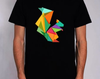geometric squirrel t-shirt for men and women colors
