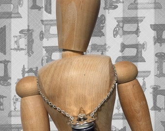Silver Chain Theodora Bobbin Necklace