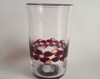 8 oz hand blown glass cup