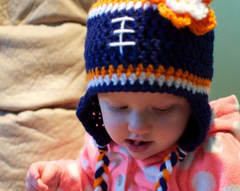 Crochet Football Hat - Made to Order