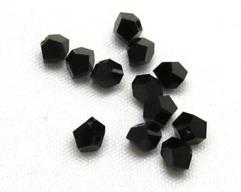 1 Package  (5310) Swarovski® Crystals 4.5 x 3.5mm Faceted Simplicity Jet  (B52E)