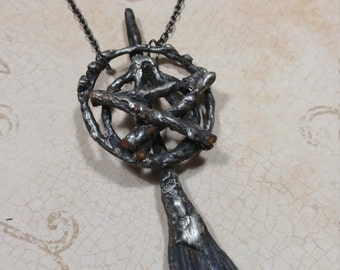 Witches broom with pentagram