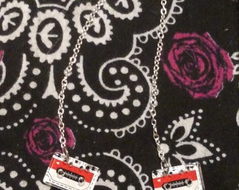 Cassette tapes earrings