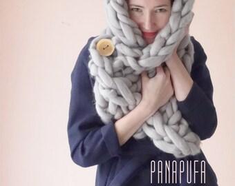 SALE! Chunky Knit Scarf Snood Snoodscarf Wool Cowl Knitted Snood, Oversized Scarf, Oversize Knit scarf, Giant knit scarf, Chunky yarn scarf