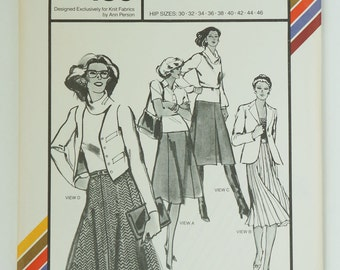 Vintage Stretch & Sew 430 Gored Skirts Size 30 - 46
