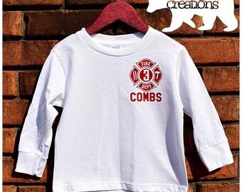 Long Sleeve Toddler/Youth Custom Fire Department Shirt