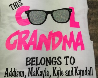 Cool Grams shirt, Grandma Shirt, personalized grandma, Grandma Tshirt, Family shirt