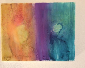 Ink dyed canvas