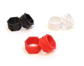 Geometric Napkin Rings
