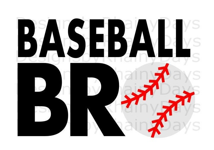 Buy 3 get 1 free! Baseball bro cutting file, baseball brother SVG