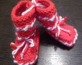 Baby knitted socks-booties.
