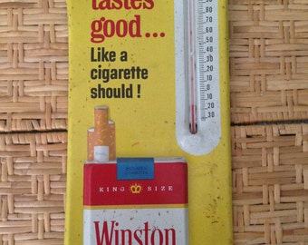 Winston Cigarettes Advertising Sign Thermometer How Good it is