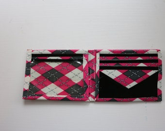 Argyle-Black (Limited Edition) Duct Tape Bifold Wallet