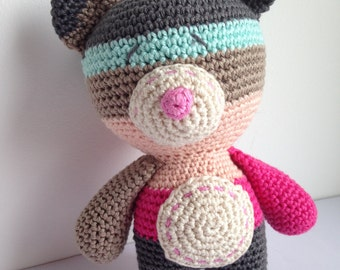 Multicolor Crochet Bear