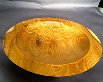 Plate or Platter turned in Robinia Wood