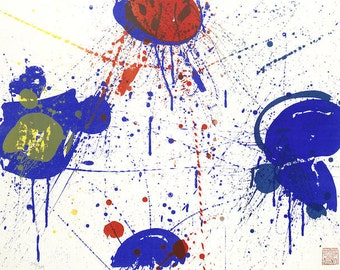 Limited Edition Abstract Print by Sam Francis