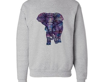 Colorful Elephant Sweatshirt Colorful Hipster Sweater