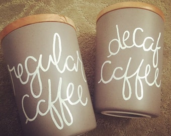 Two-Set Coffee Canisters