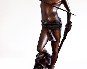 Vintage David & Goliath Sculpture