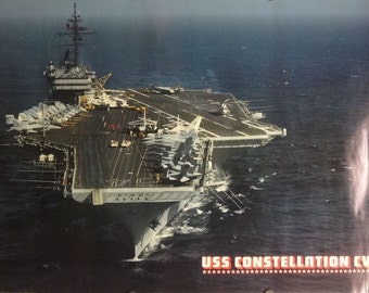 USS Constellation CV64 24x36 Aircraft Carrier Poster