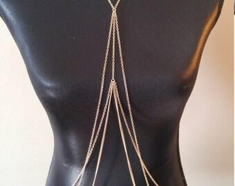 Beautiful gold layered necklace body jewelry! (LAST ONE!)