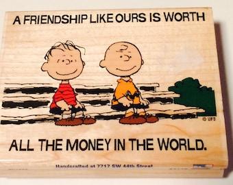 Charlie Brown friendship stamp