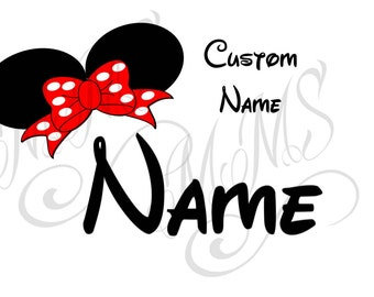 Custom Personalized Mickey Mouse Head Disney Family Download Iron On Craft Digital Disney Cruise Line Magnet Shirts