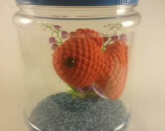 Fish plush, goldfish stuffed animal, toy fish aquarium, gift, girl gift, pet fish