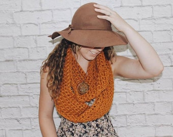 Chunky Textured Cowl Scarf {Autumn Dreaming}