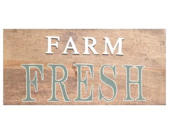 Farm Fresh wood kitchen sign