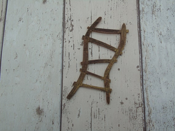 Fairy door ladder rustic brown white accessory for White fairy door