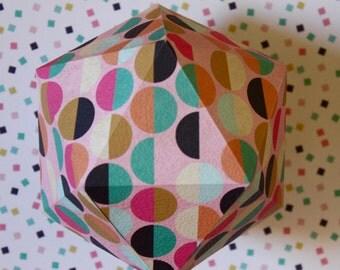 GRAPHIC#11 - Suspension papier - Pink semicircles pattern