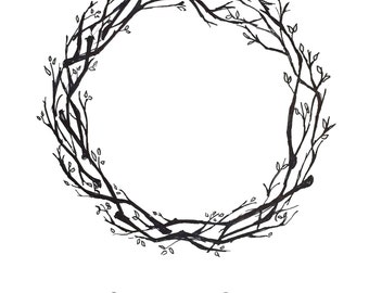 Fingerprint wreath etsy wreath fingerprint guestbook guestbook alternative party or wedding thumbprint sign in pronofoot35fo Image collections