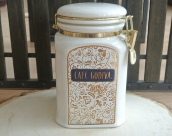 Cafe Godiva Chocolateir Ceramic Canister