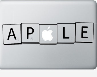 Macbook Laptop Decal, Scrabble Laptop Decal, Smart Decal