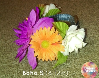 Flower Crown Collar for Dogs- Boho S