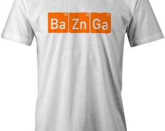 Ba Zn Ga Mens T-Shirt The Big Bang Theory Sheldon Cooper Funny Joke Birthday Gift Present