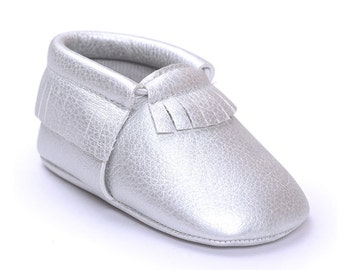 Baby mocassin silver