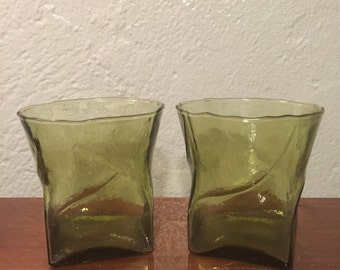 Handmade rocks glasses from the 70s