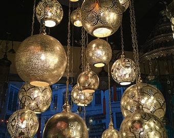 HANDMADE ARTWORK TURKISH Chandelier, 17 Bulbs