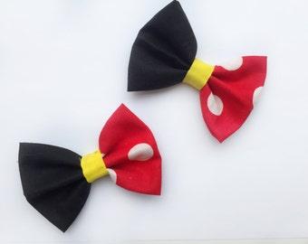 BIG Mickey Mouse Bow, baby girl, baby headband, baby clip, disney, girl toddler, big bow, toddler headband, newborn photo prop, mickey mouse