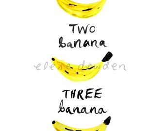 One Banana, Two Banana A4 Printable