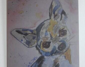 Chihuahua art blank card