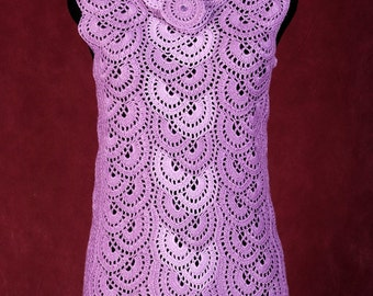 Crochet tunic Violet