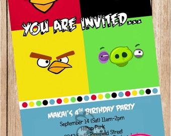 Angry Birds Printable Invitations