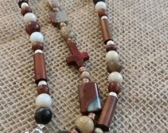 Triple strand earthy/Boho bracelet